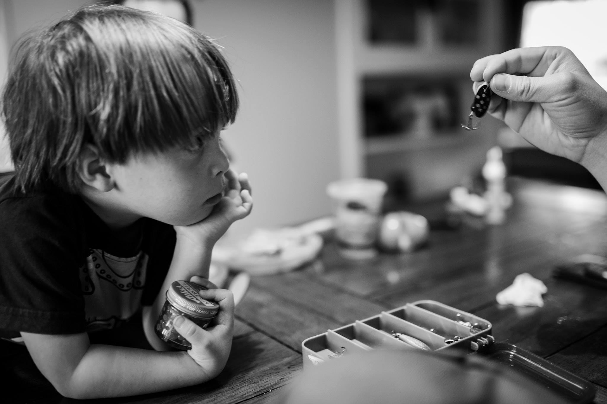 child learning about legos