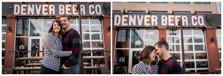 Denver Brewing Company engagement photo