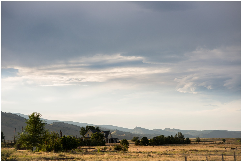 boulder farm sunset