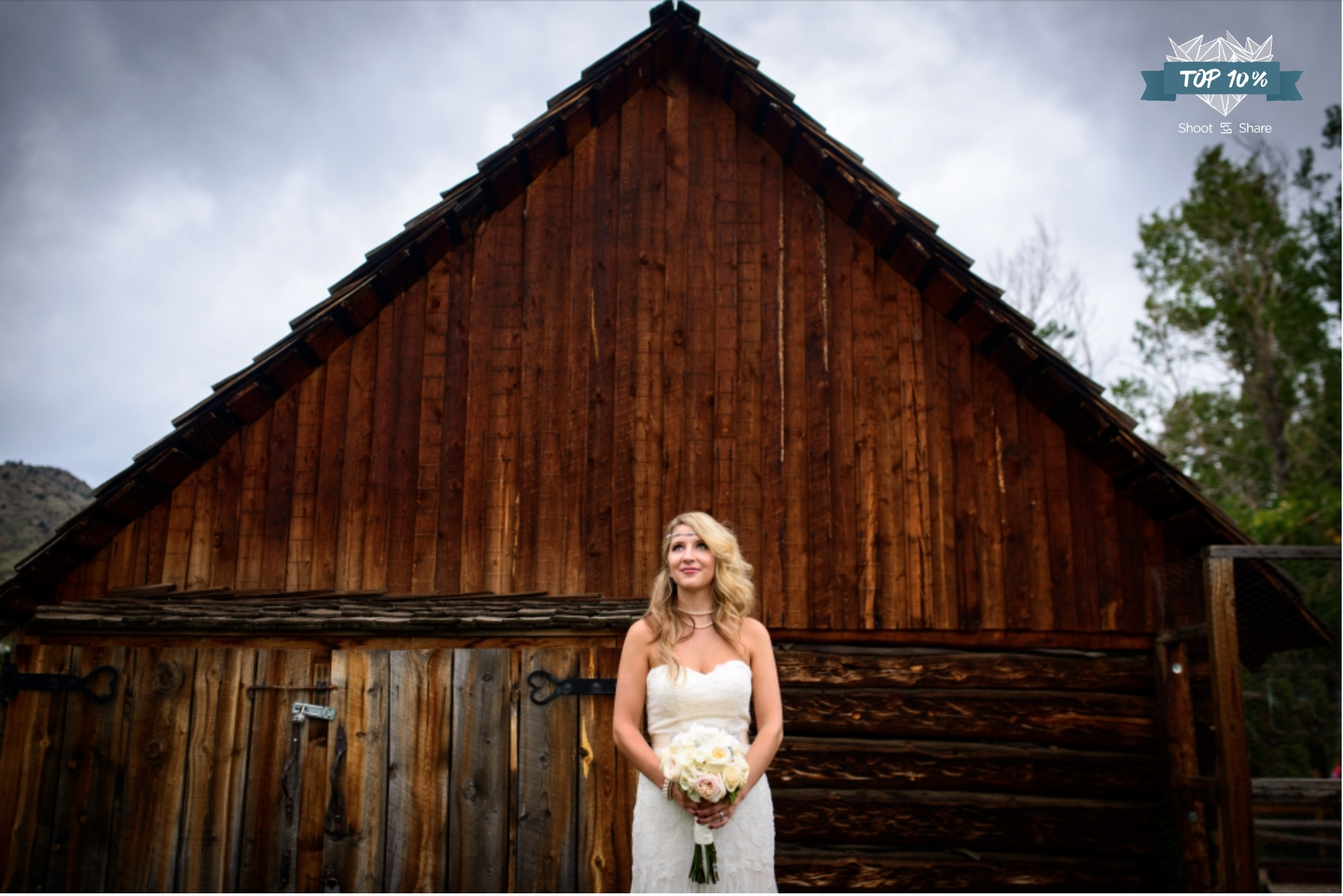 Dark Clouds moved in for intimate Antique-style Wedding; Briarwood Inn, Golden, Colorado