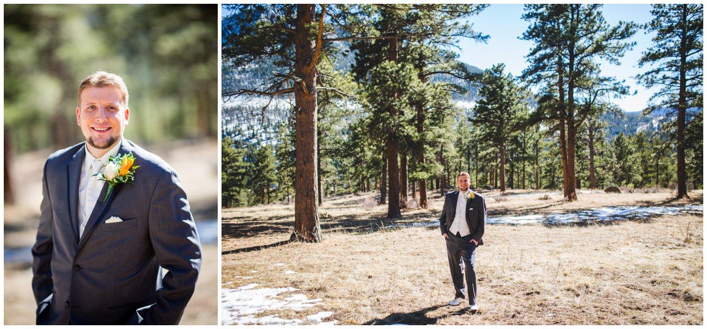 colorado mountain groom photo