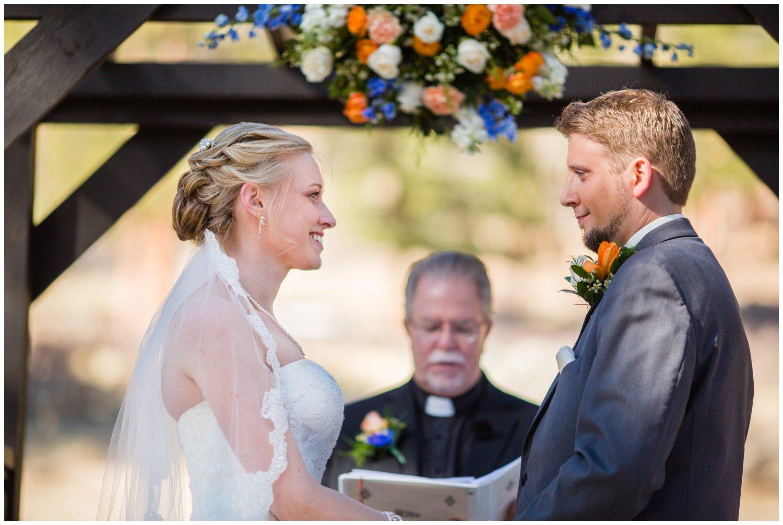 mountain wedding ceremony in Colorado