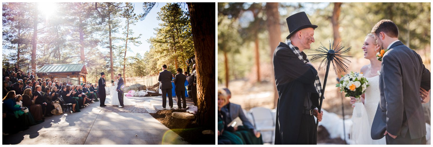 Chimney Sweeper wishes luck to bride and groom
