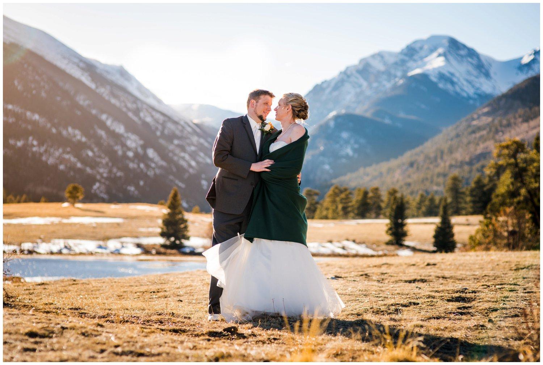 Epic mountain wedding photo in Colorado