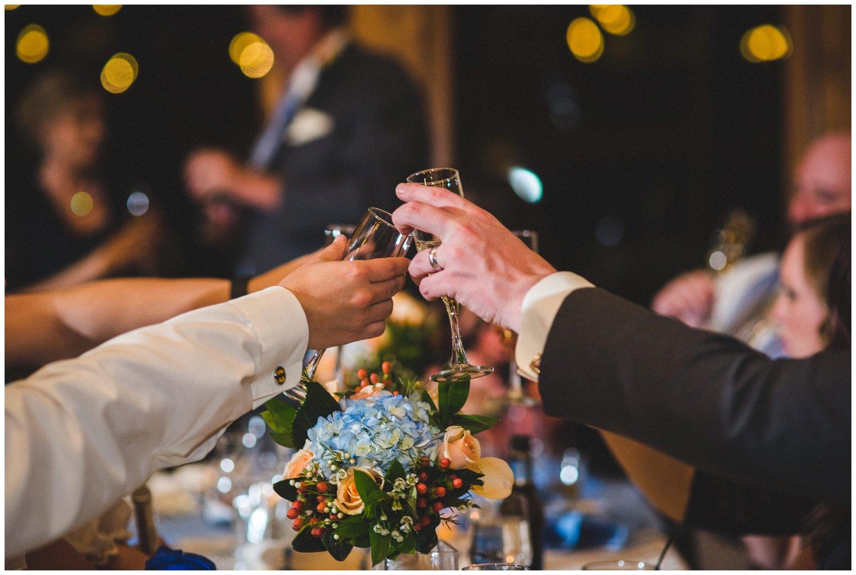 good toasting photo at wedding
