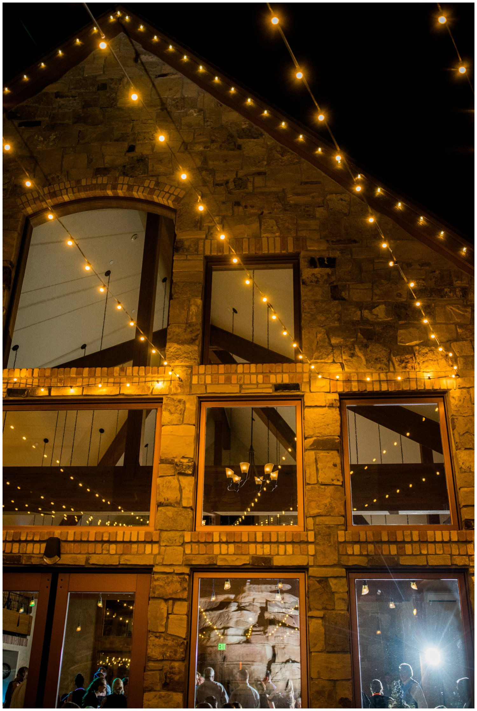 bistro lights wedding decor