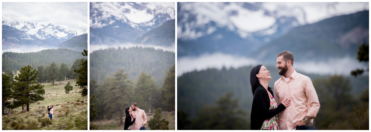 sunrise engagement photos in Colorado mountains