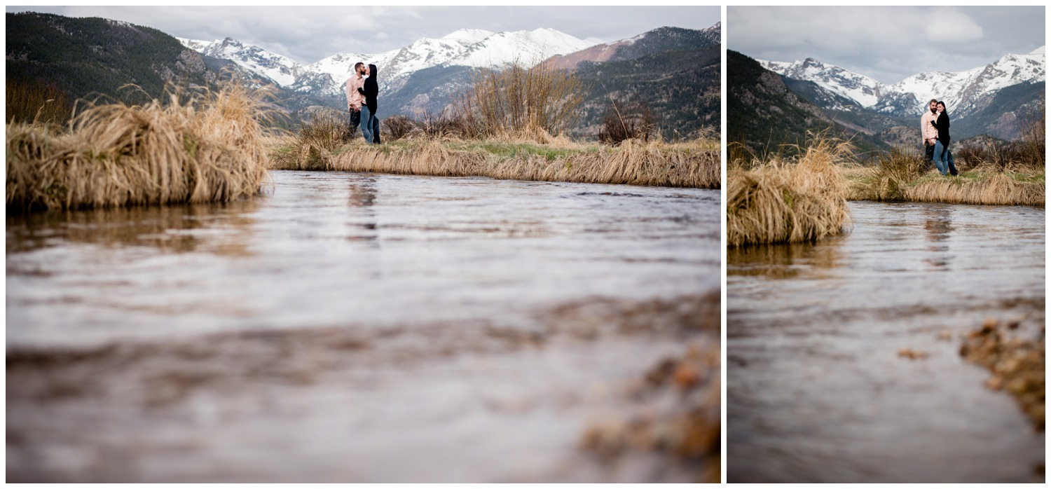 River engagement photos in Colorado