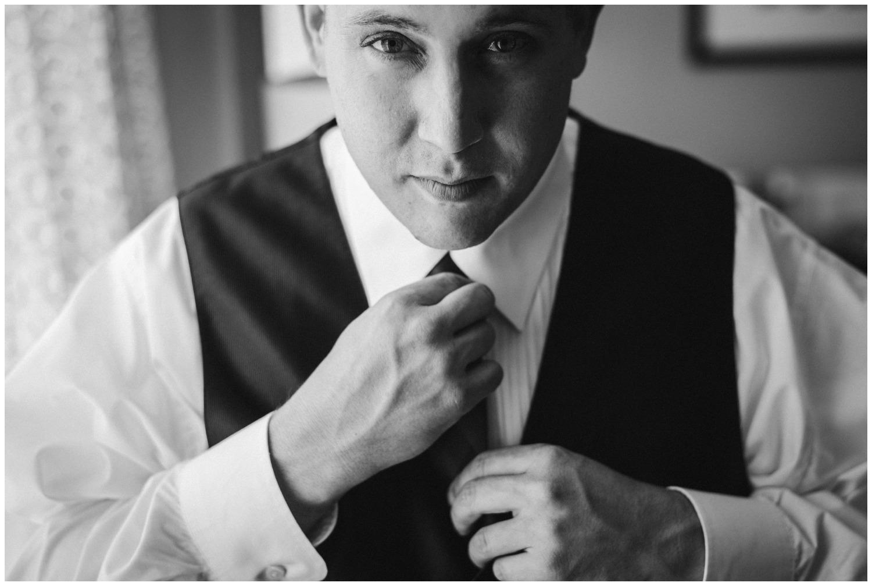 groom gets ready for Denver Wedding