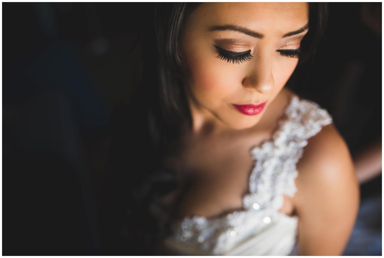 gorgeous bridal portrait window light in Colorado