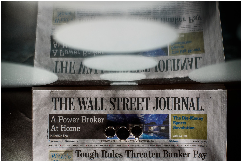 Weddings rings on Wall Street Journal