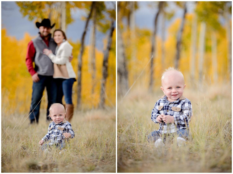cute fall mountain family photos colorado