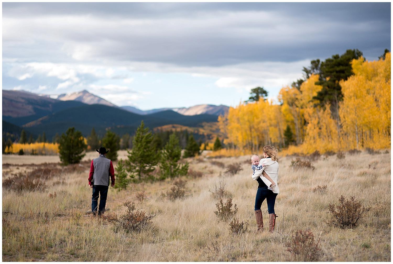 Unique family photo in Colorado Mountains