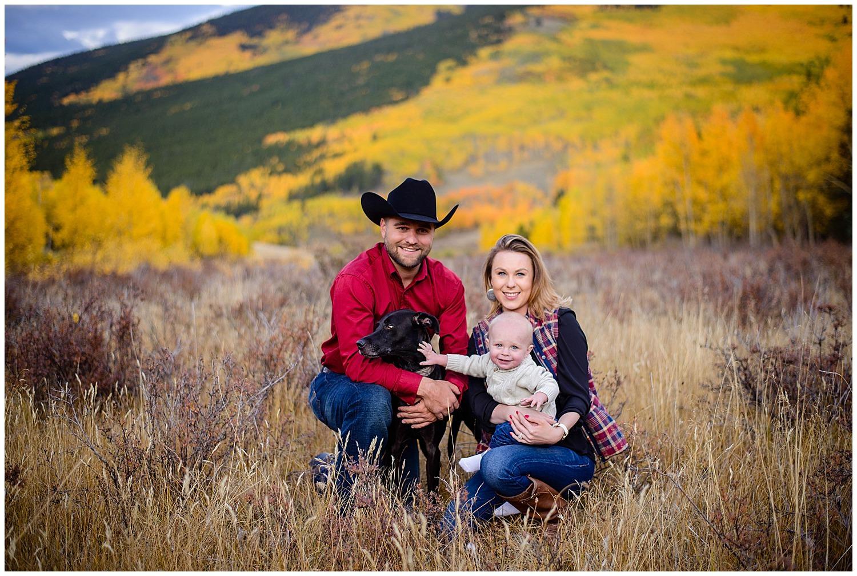 colorado fall family photography in mountains