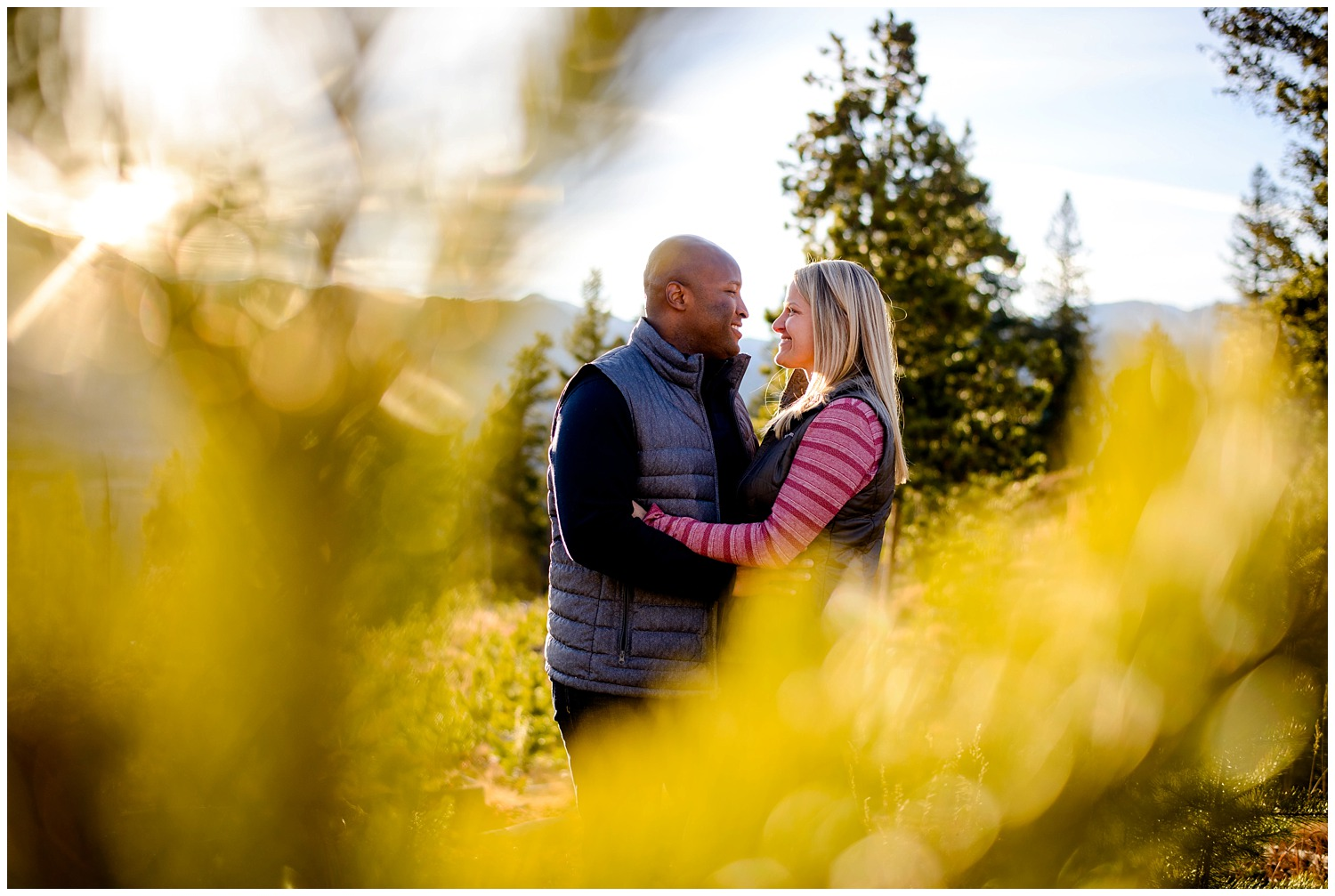 Sapphire Point colorado engagement photo
