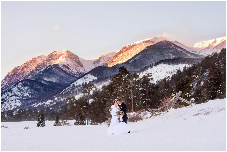 Rocky mountain National Park wedding photo