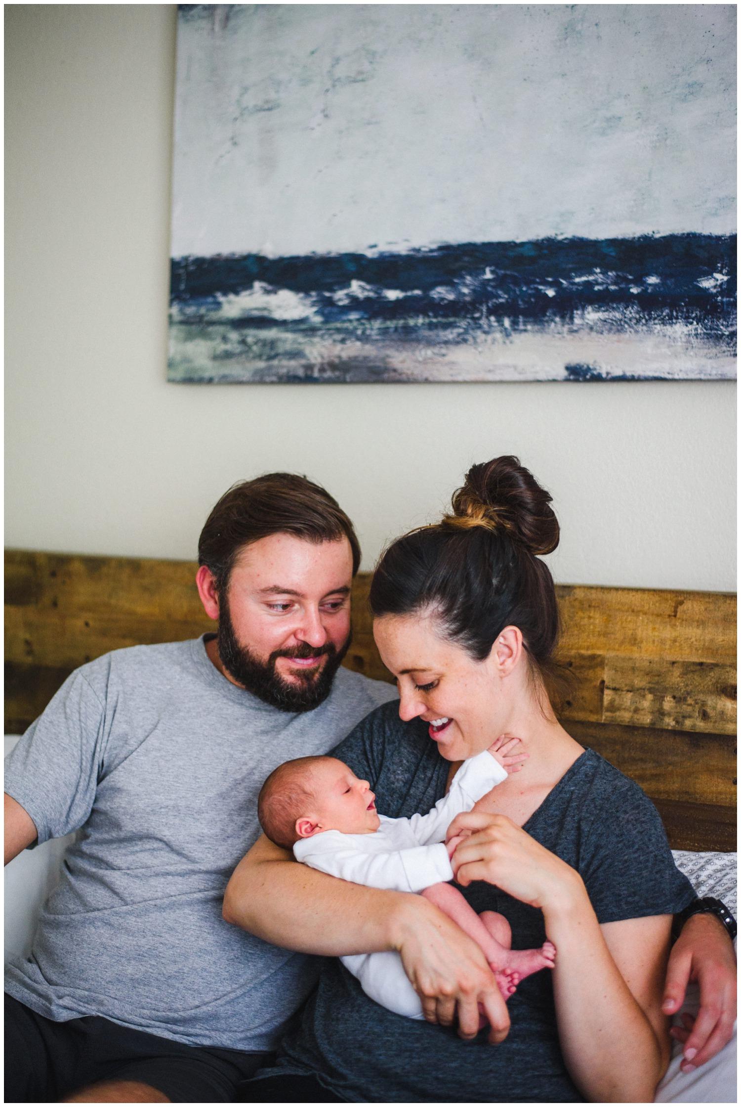 documentary newborn family photo