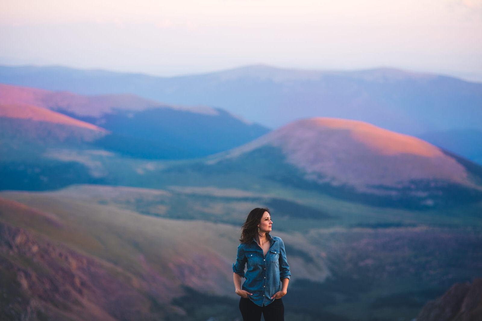 outdoor colorado mountain headshot