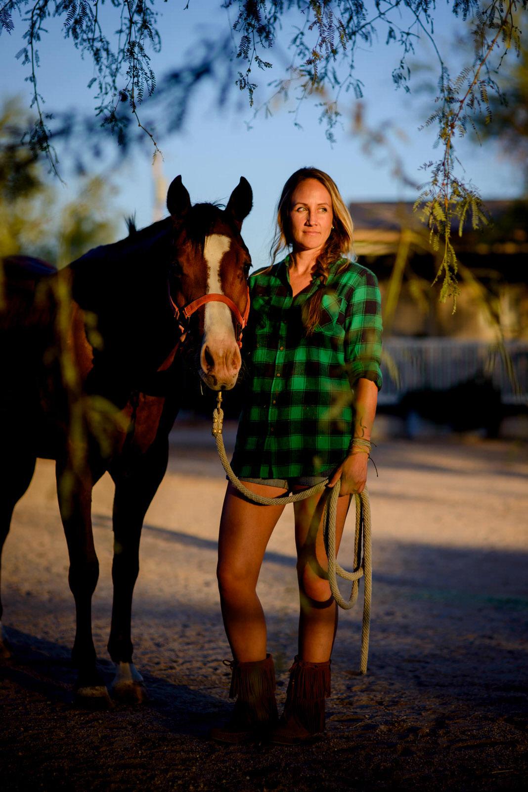 Branding headshot with horse