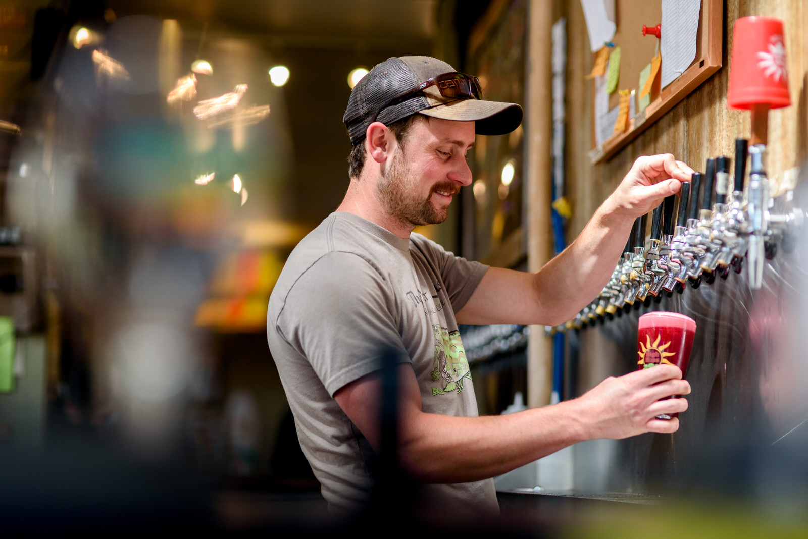 Business branding photograph at Brewery