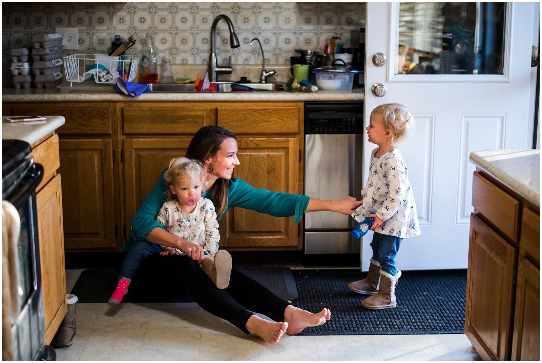 documentary family photo in Denver home