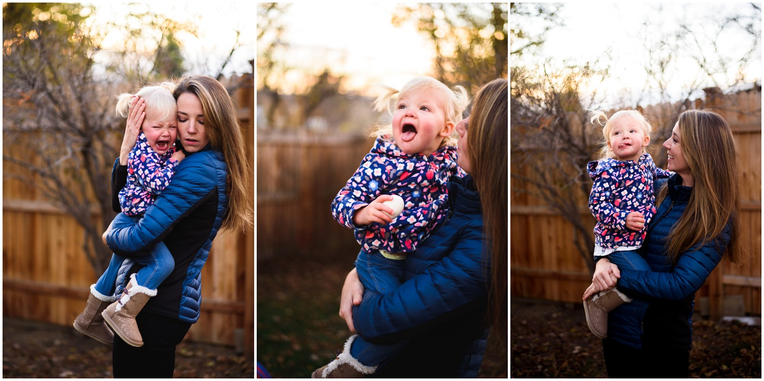 mom and daughter moments in backyard photos