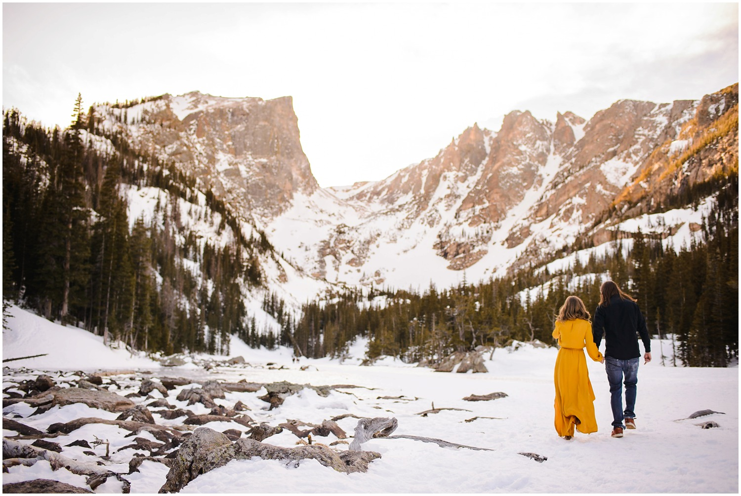 Mountain lake engagement photography in Colorado
