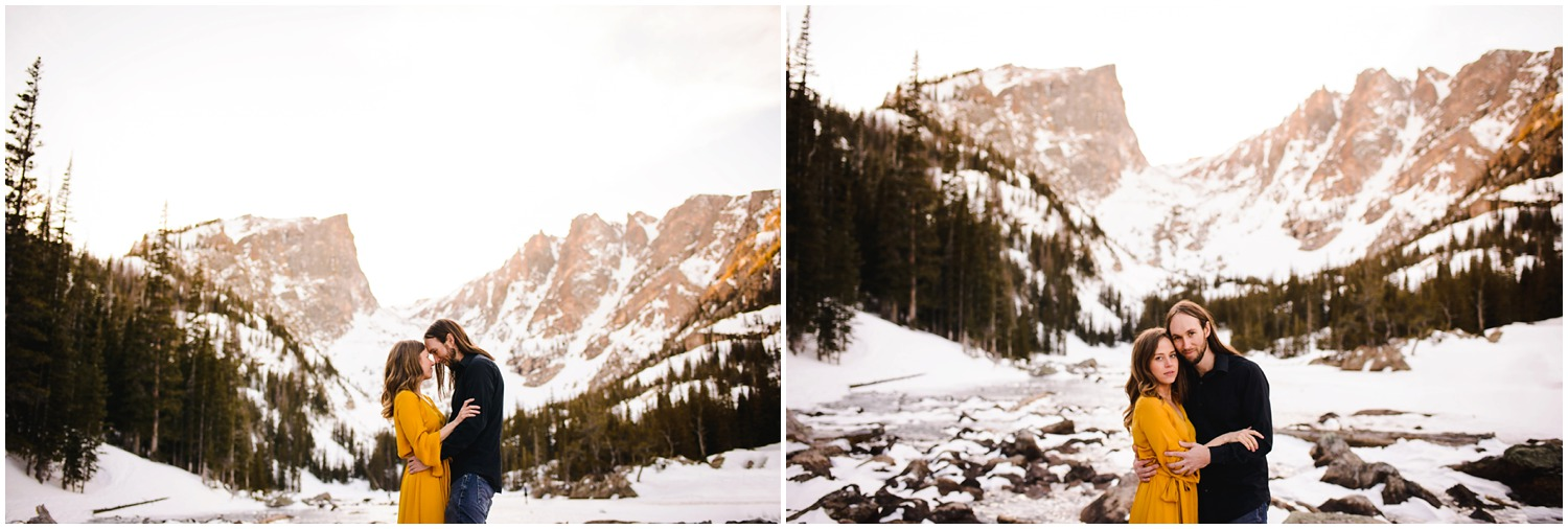Colorado mountain adventure engagement photos