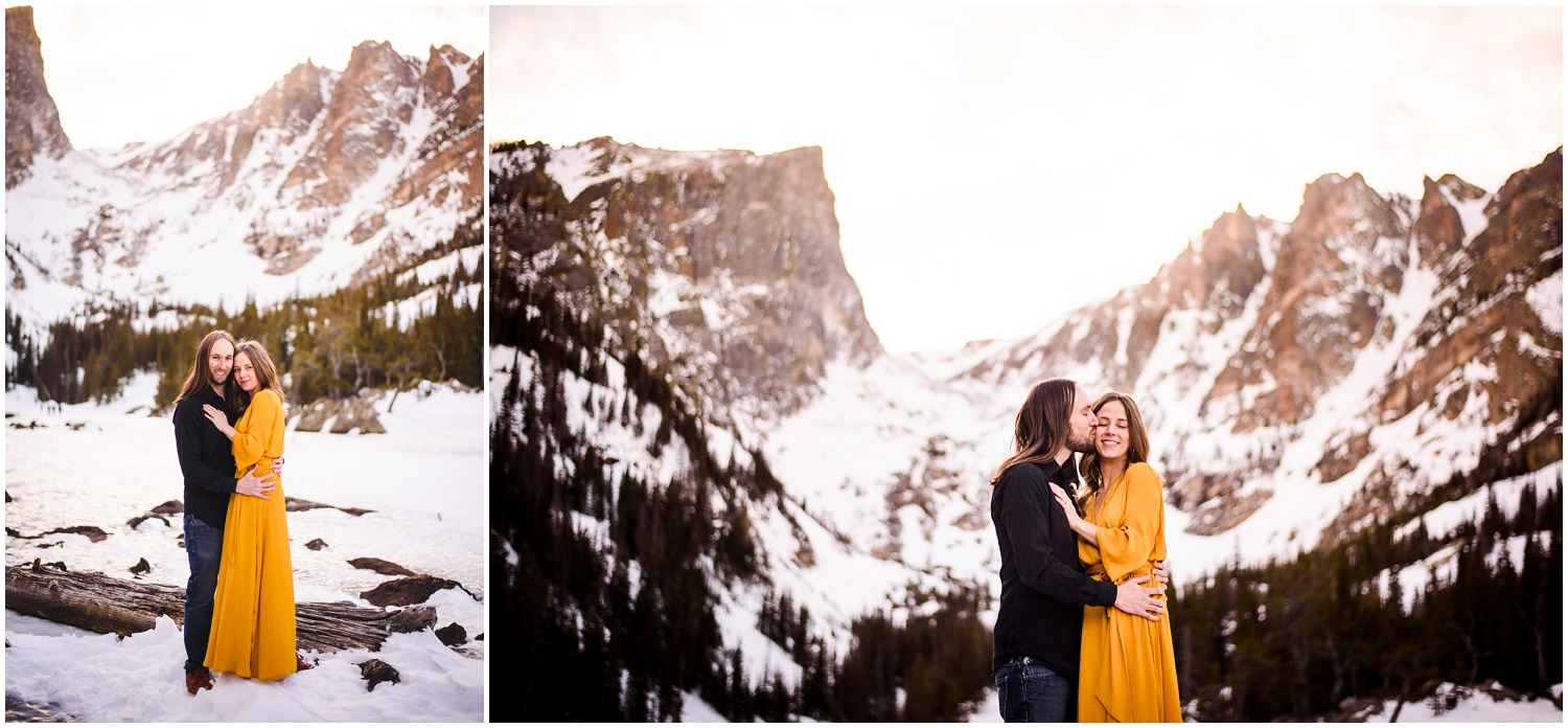 Engagement Photo at Dream Lake