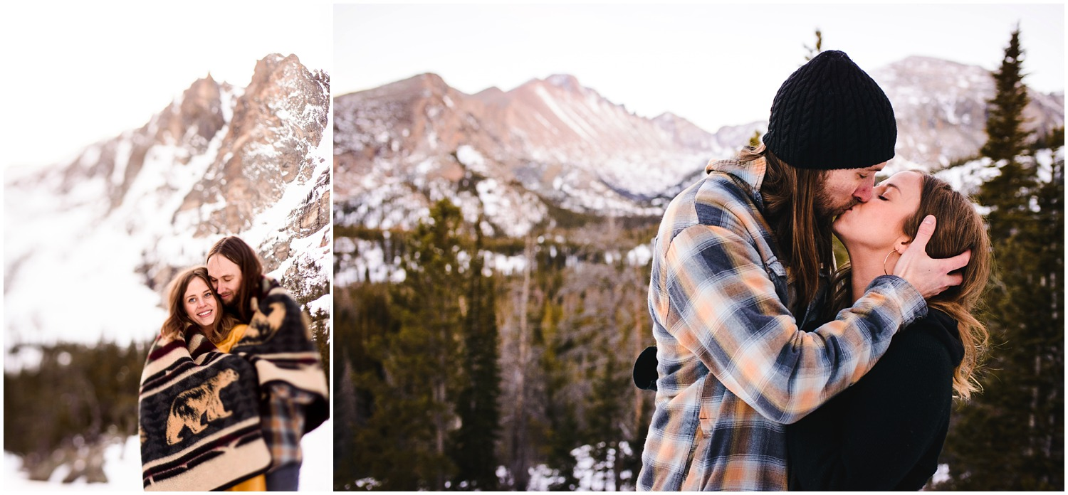 Colorado destination engagement photo near Estes Park