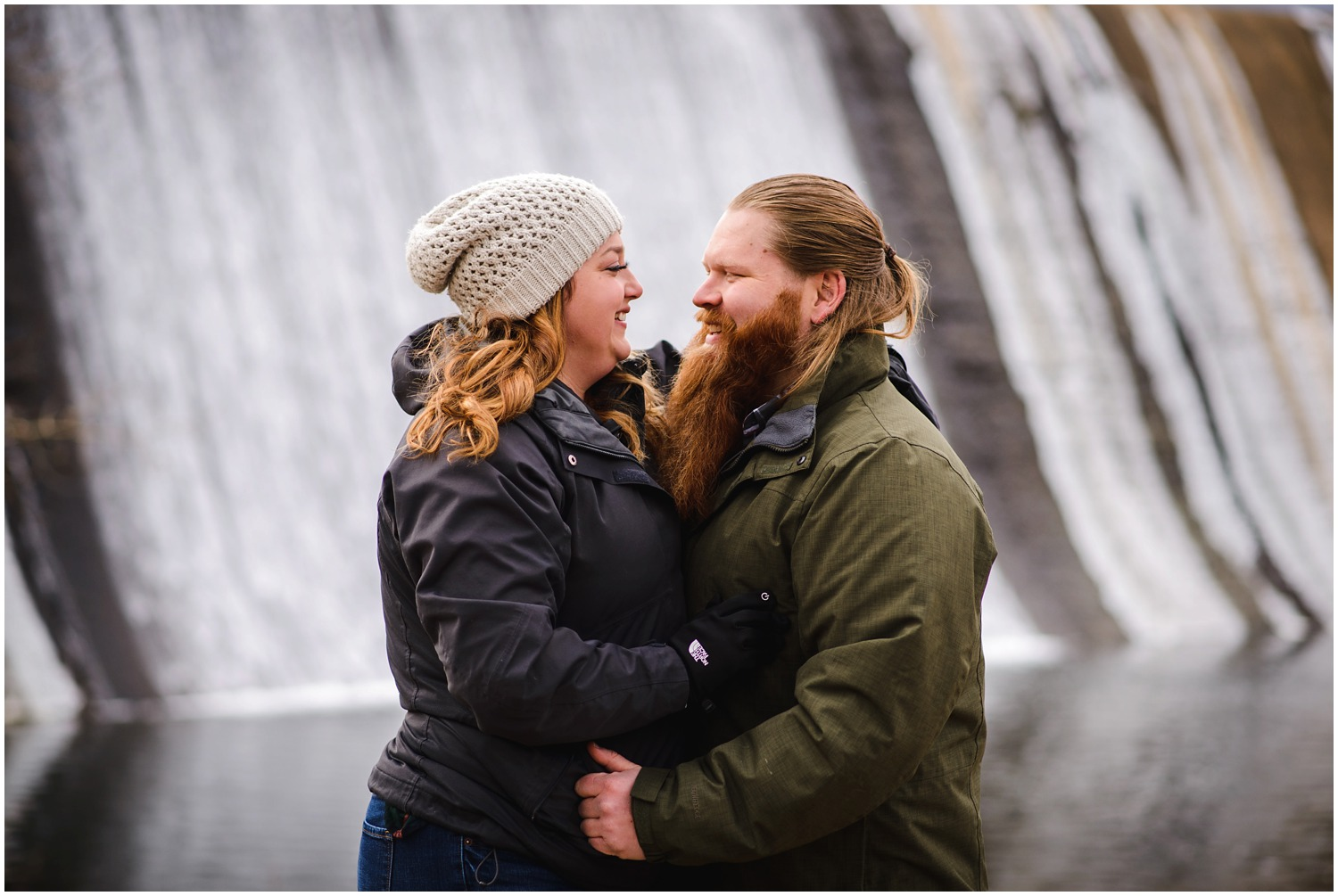 Evergreen Dam engagement photo