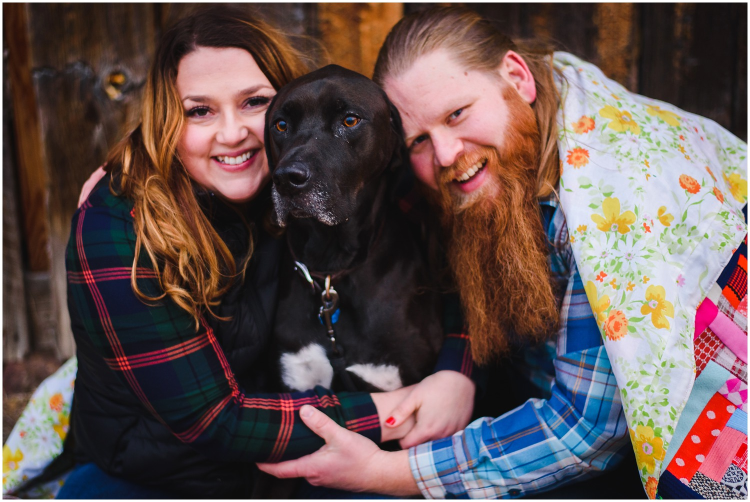 colorado engagement photo with Dog