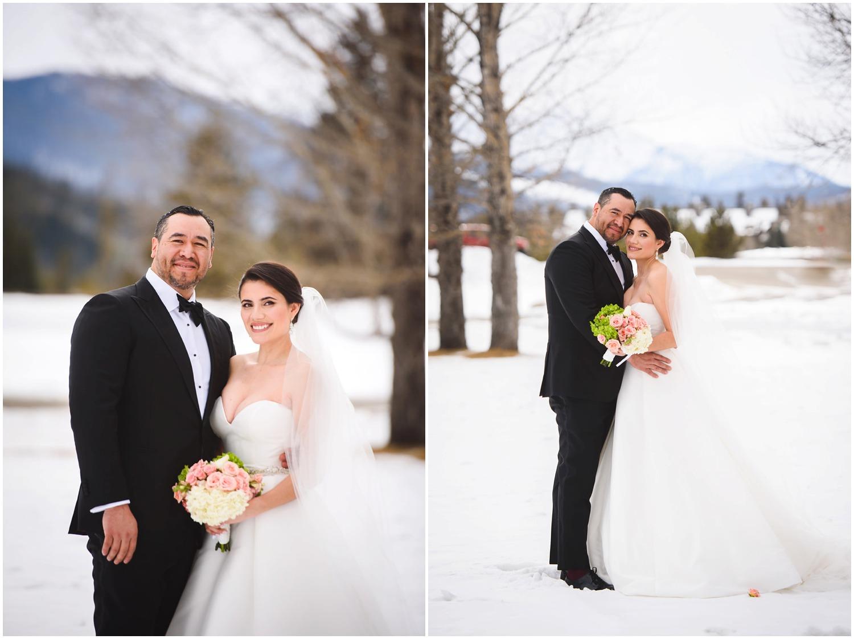 Bride and Groom in Keystone colorado
