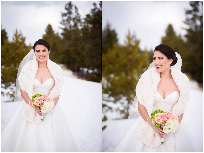 Summit County Winter Wedding Bride