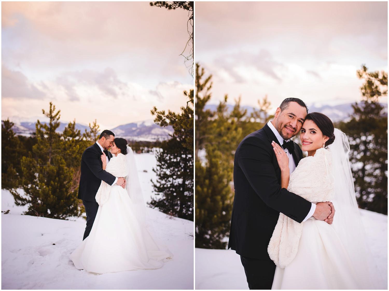 Colorado mountain sunset wedding