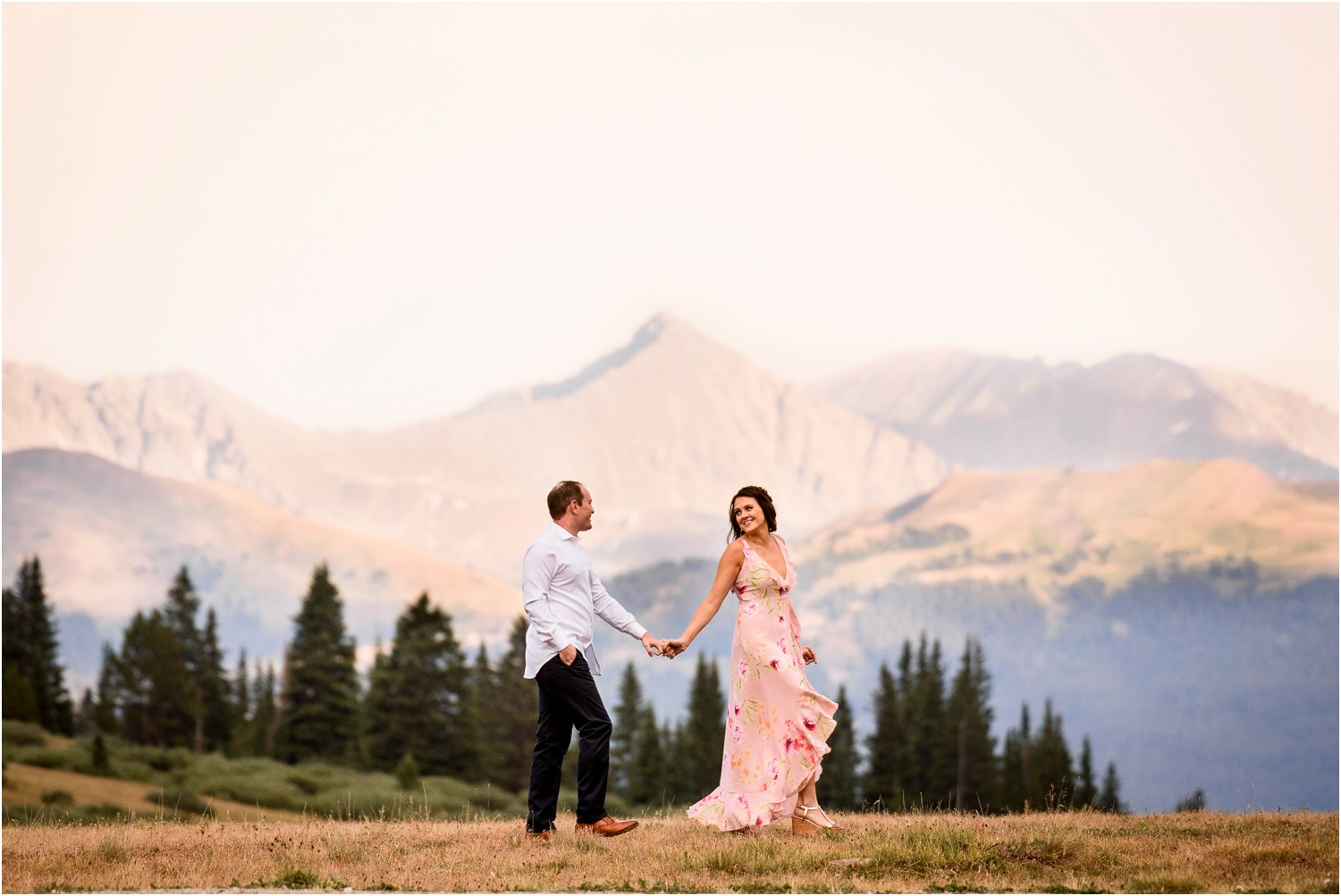 Shrine Pass mountain Engagement Photography