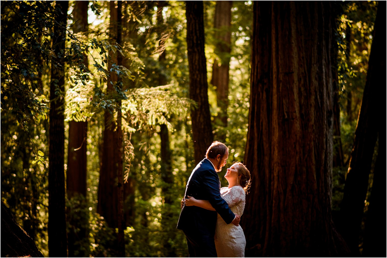 California Redwood Bride and Groom photo