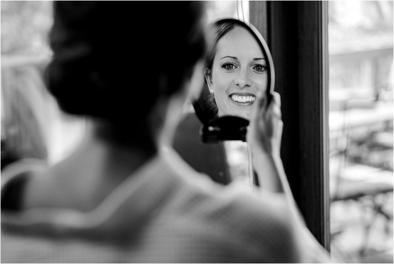colorado bride gets ready for wedding