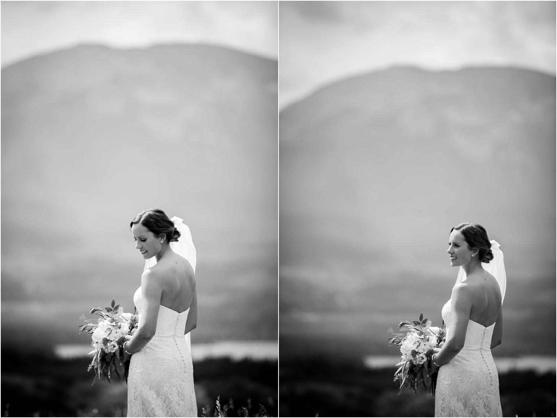 Black and White bride portraits in colorado
