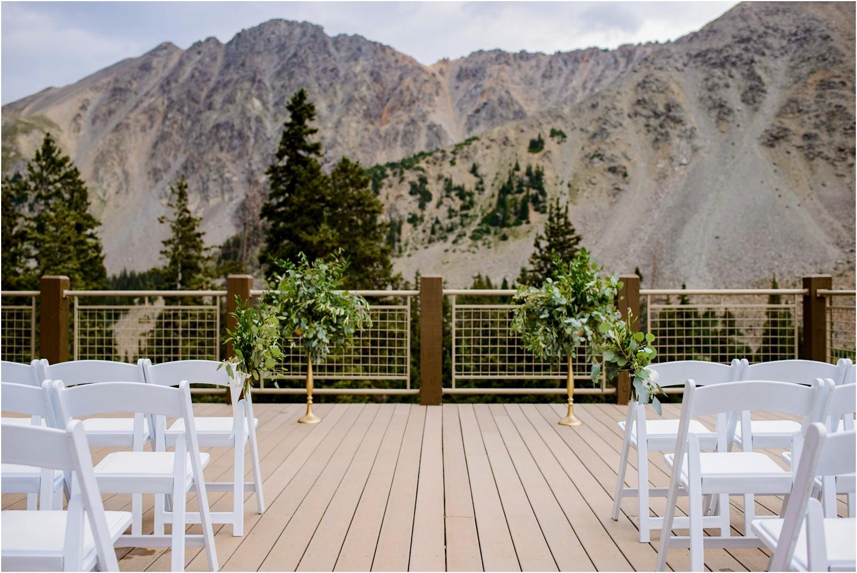 wedding ceremony Black Mountain lodge