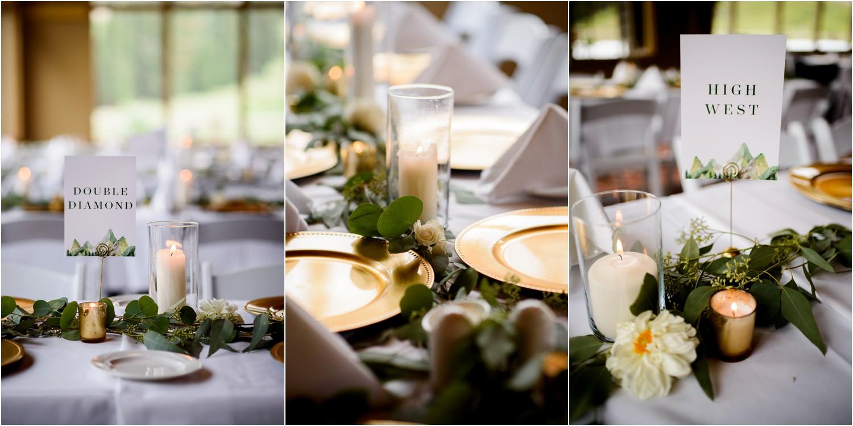 Colorado mountain wedding decor