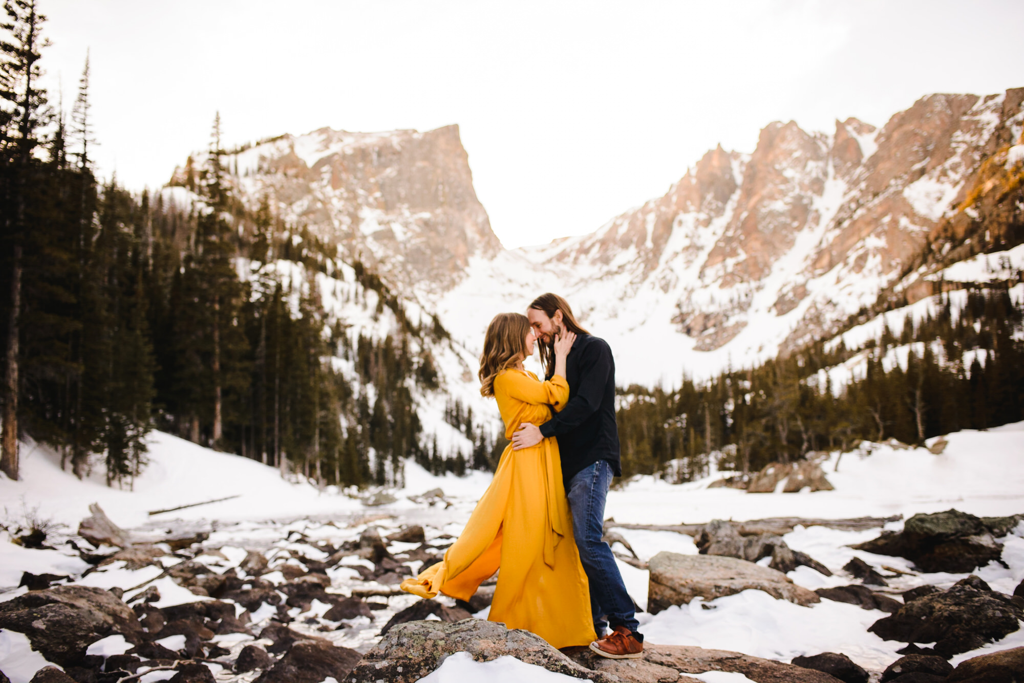 Copy of Dream Lake Winter Engagement Photo