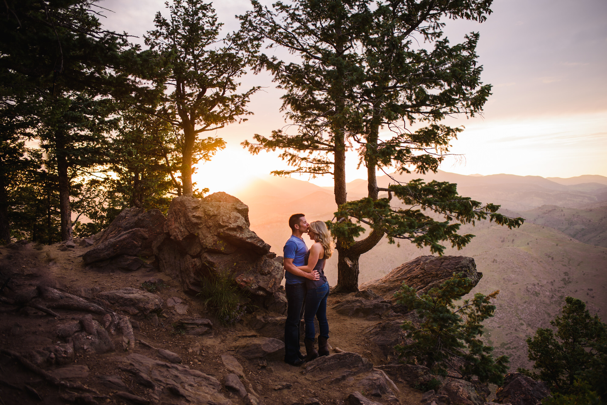 Copy of Colorado Sunset Mountain Engagement Lookout Mountain