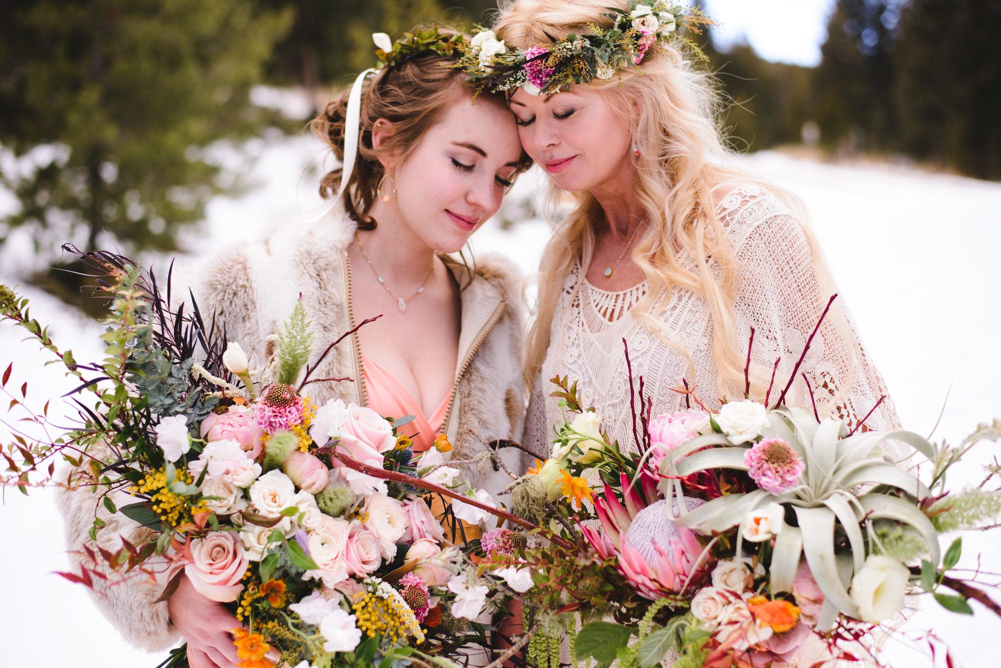 Copy of Lesbian Colorado Winter Wedding Photography