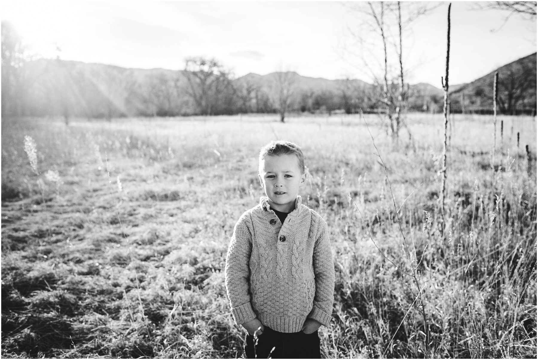 ft. Collins child portrait in black and white