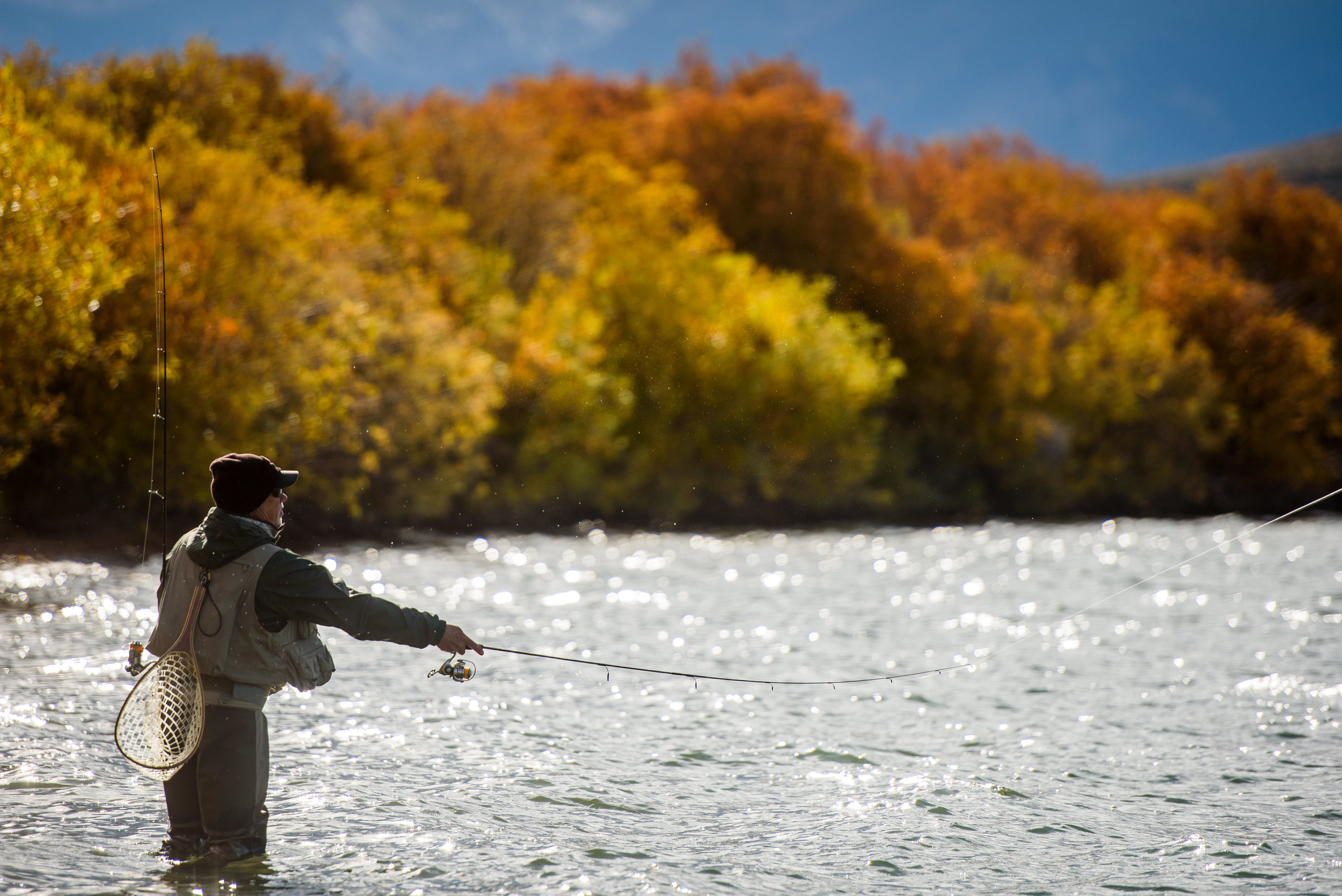 fall fishing on Delaney Buttes Lake
