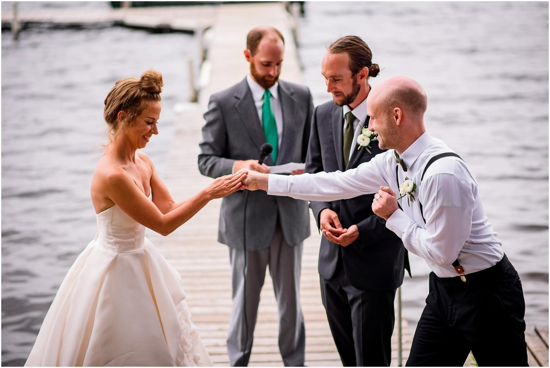 Wisconsin Lake Wedding ceremony