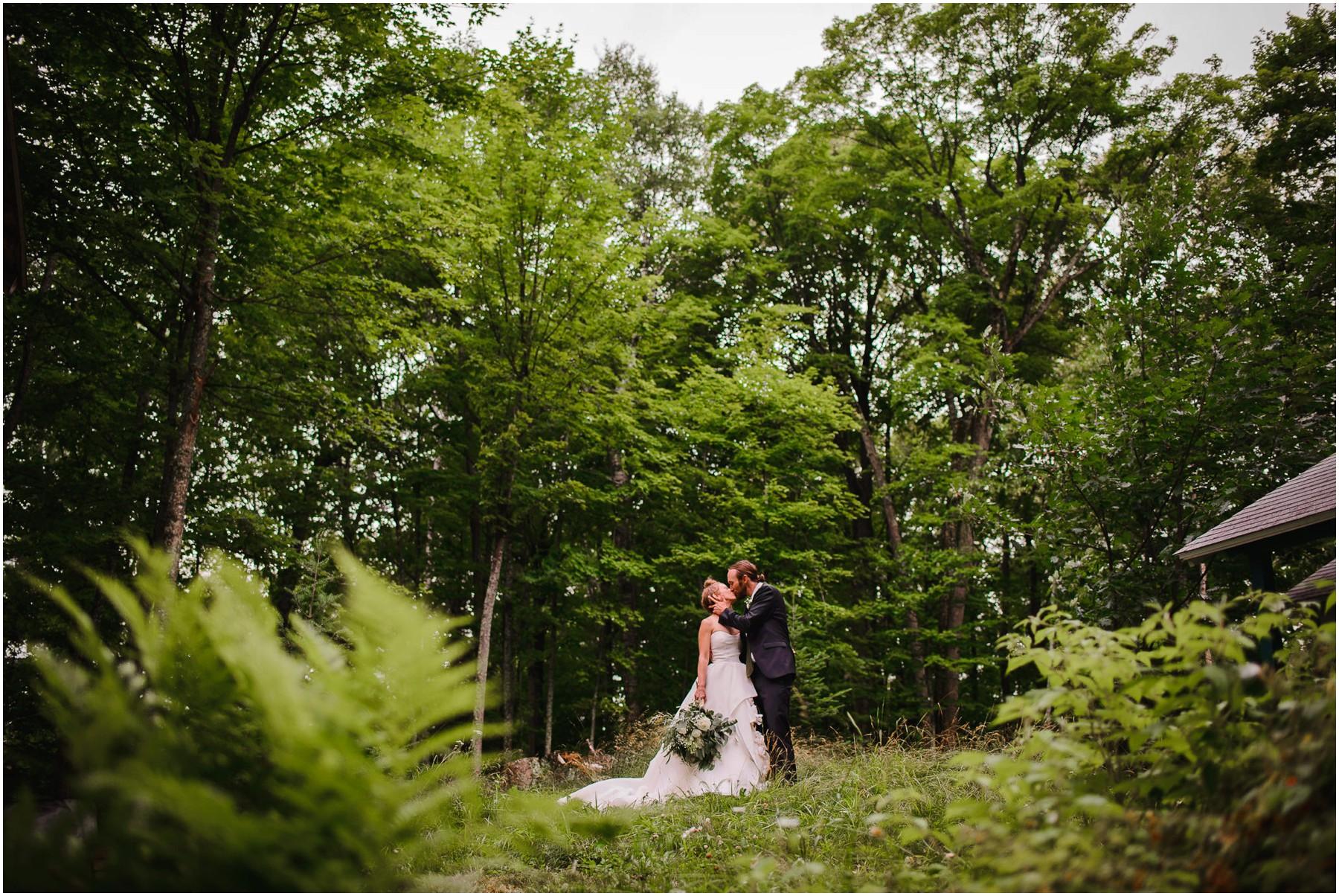 wedding portrait on Wisconsin island
