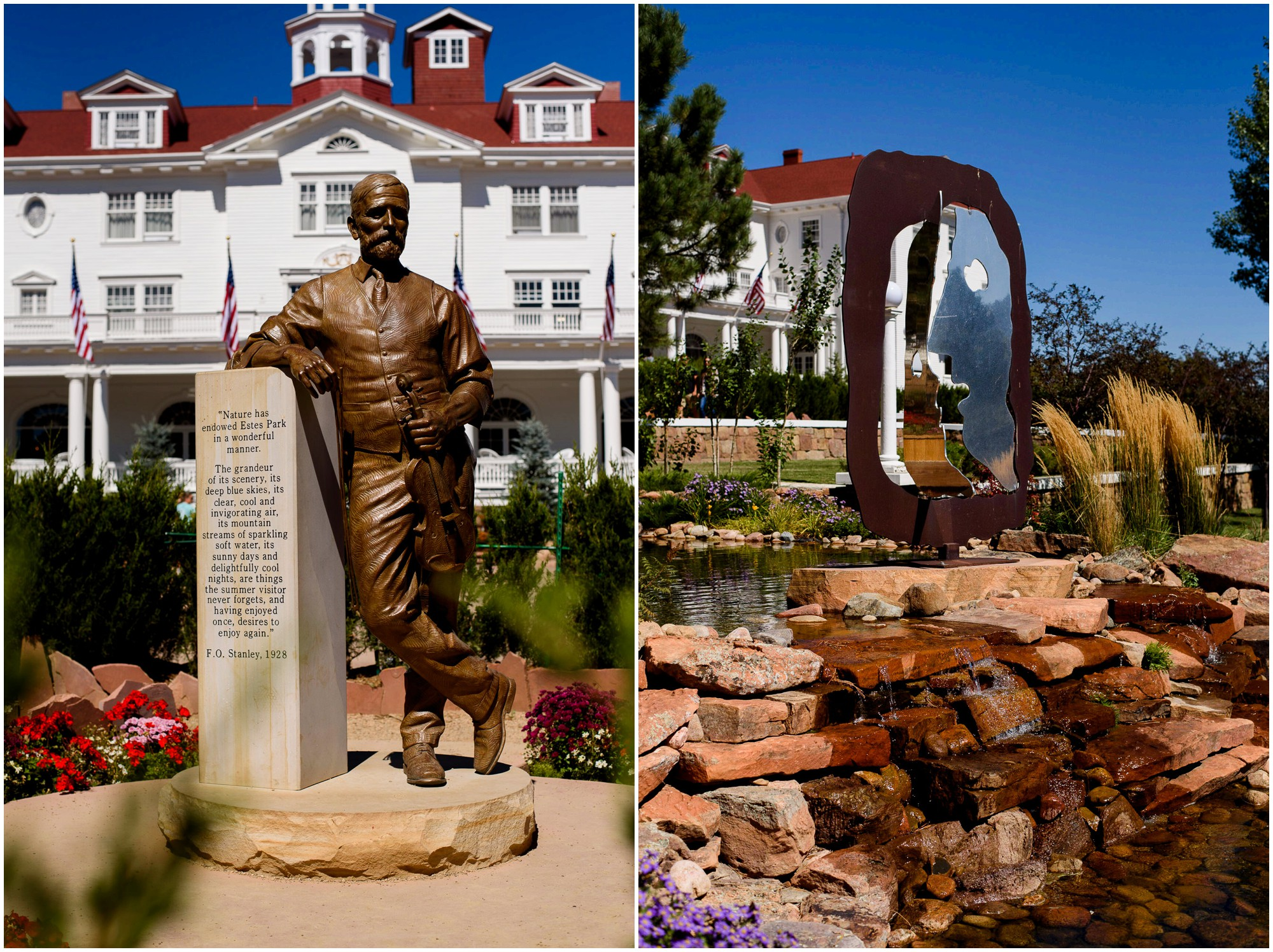 Exterior grounds of the Stanley Hotel