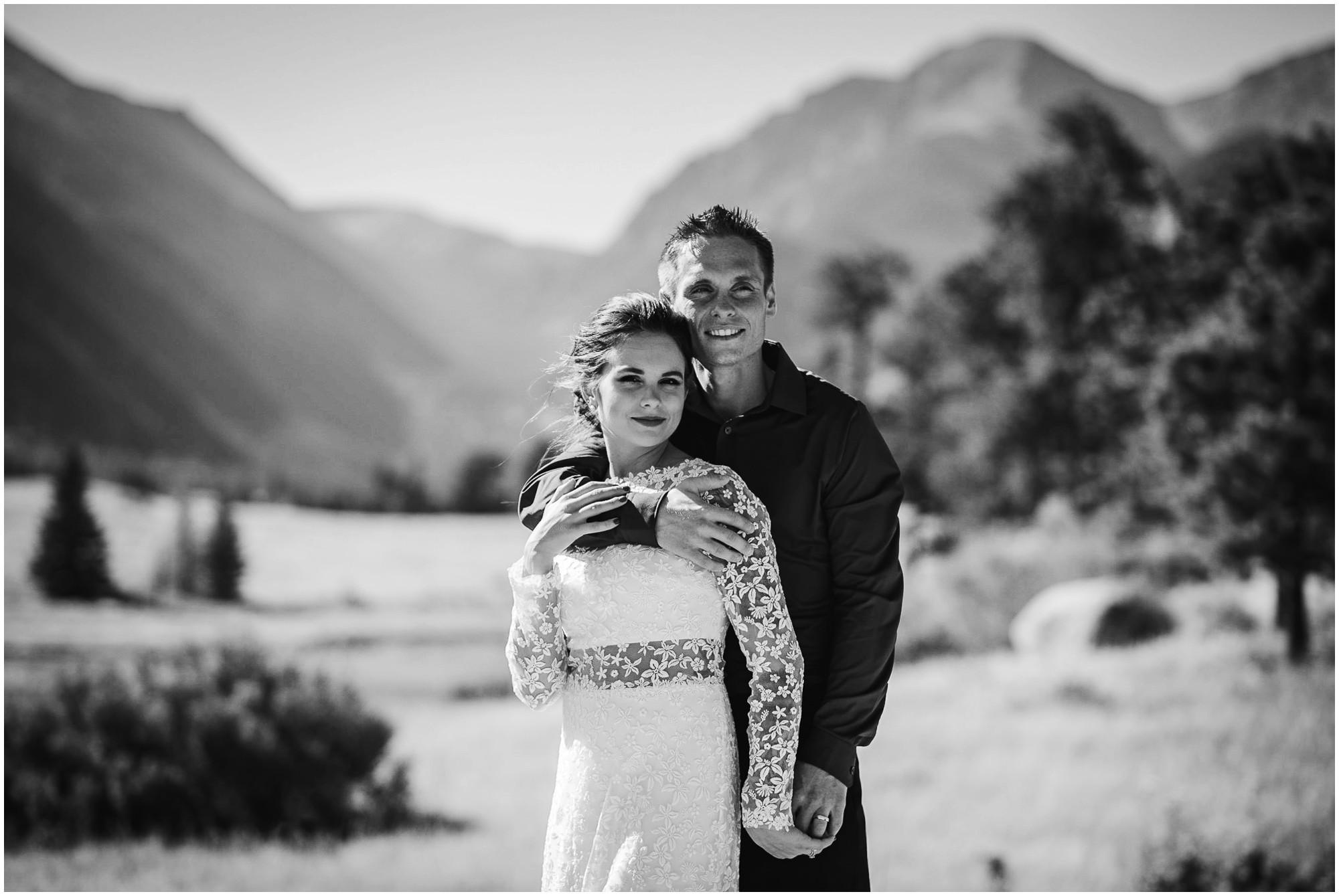 Rocky mountain national Park wedding portrait